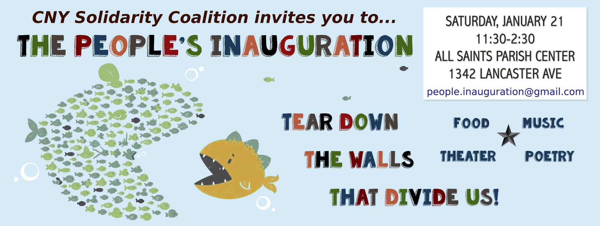 People's Inauguration, Sat. Jan. 21st 11:30am-2:30pm