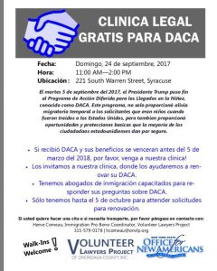 Clínica legal gratis para DACA/Free DACA Legal Clinic
